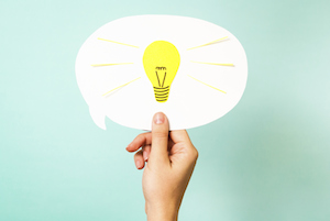 light bulb bright idea smart comment think ahead innovate