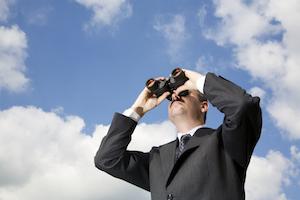cloud future predict outlook binoculars